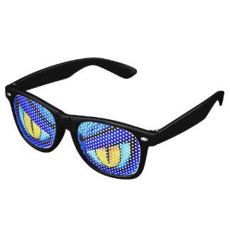 Gelbes mit Augen Monster Retro Sonnenbrillen
