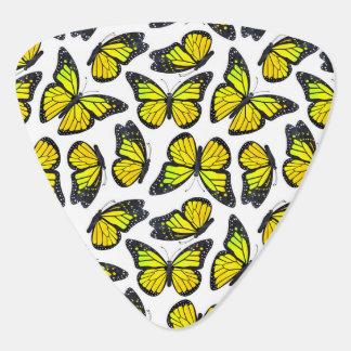 Gelbes Monarchfalter-Muster Plektrum