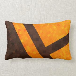 Gelbes Mosaik-Fliesen-Muster Browns abstraktes, Lendenkissen