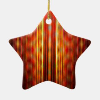 Gelbes Muster der hellen Streifen Keramik Ornament