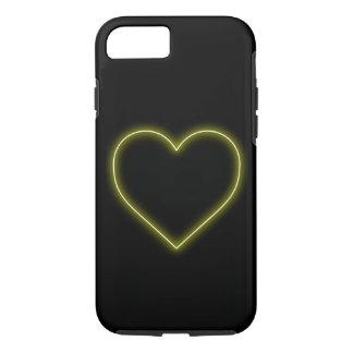 Gelbes Neonherz - LiebeValentines iPhone 8/7 Hülle