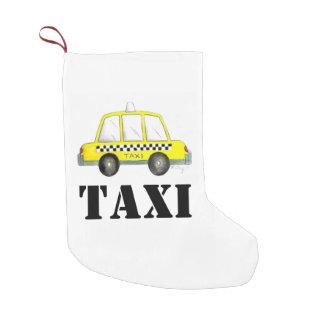 Gelbes NYC Taxi-Checkered Fahrerhaus-New- Kleiner Weihnachtsstrumpf