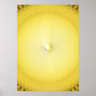 Gelbes Plafond Poster