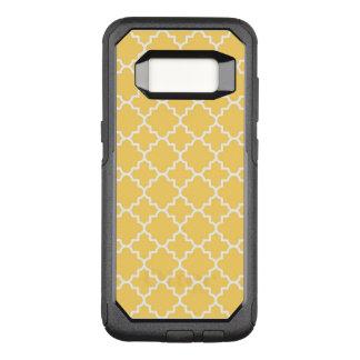 Gelbes Quatrefoil Muster OtterBox Commuter Samsung Galaxy S8 Hülle