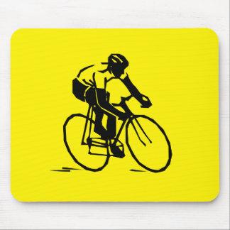 Gelbes Radfahren Mousepad