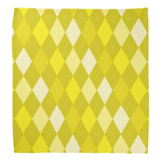 Gelbes Rautenmuster Kopftuch