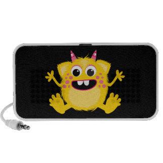 Gelbes Retro niedliches Monster iPod Lautsprecher