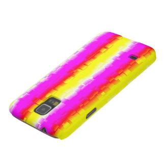 gelbes rosa abstraktes Regenbogenmuster Galaxy S5 Cover