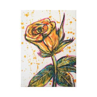 'Gelbes Rose Leinwanddruck