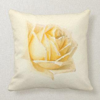Gelbes Rosen-Blumen-Malereithrow-Kissen Kissen