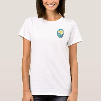 Gelbes Rosen-Crew-Hals-T-Stück T-Shirt