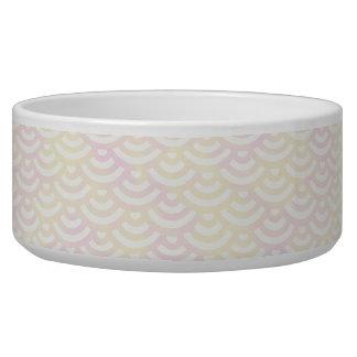 Gelbes Rosen-Meerjungfrau-Pastell-Muster Napf