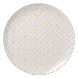 Gelbes Rosen-Meerjungfrau-Pastell-Muster Teller