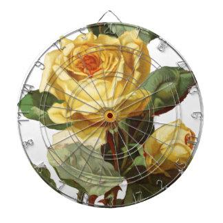 Gelbes Rosen-Pfeil-Brett Dartscheibe