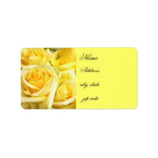 Gelbes Roses_ Adress Aufkleber