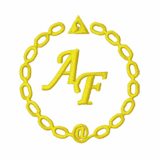 Gelbes rotes Polo besticktes Logo AF
