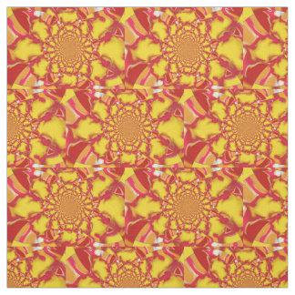 Gelbes/rotes Squazzle Fleck-Kaleidoskop-Gewebe Stoff