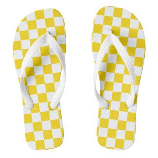 Gelbes Schachbrett Flip Flops