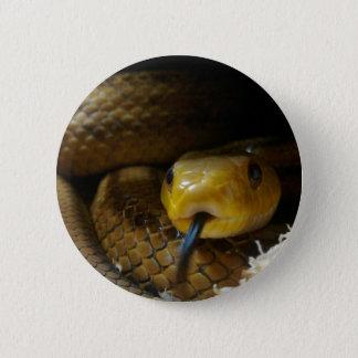 Gelbes Schlangen-Abzeichen Runder Button 5,7 Cm