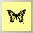 Gelbes Schmetterlings-Plakat Poster