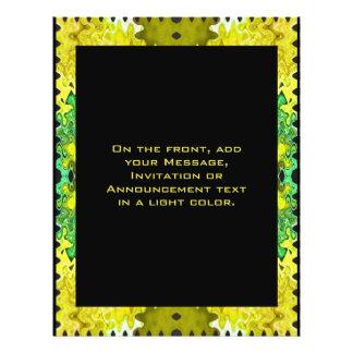 gelbes schwarzes abstraktes 21,6 x 27,9 cm flyer