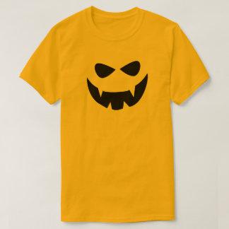 Gelbes schwarzes beängstigendes Halloween stellen T-Shirt