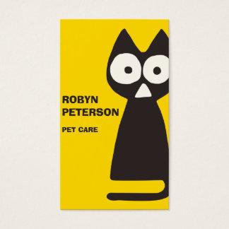 Gelbes schwarzes Dreieck-symbolische Katze Visitenkarte