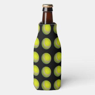 Gelbes schwarzes Tennisball-Muster, Flaschenkühler