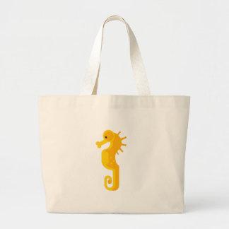 Gelbes Seepferd-Primitives Jumbo Stoffbeutel