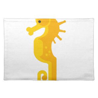 Gelbes Seepferd-Primitives Tischset
