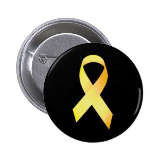 Gelbes Selbstmord-Verhinderungs-Band Runder Button 5,7 Cm