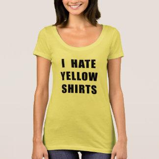 Gelbes Shirt hasse der gelben Shirts der Frauen