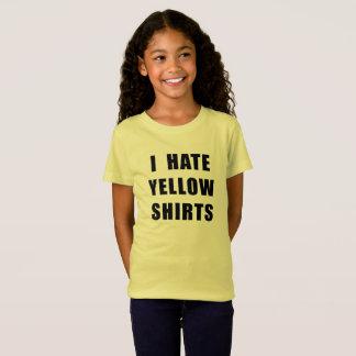 Gelbes Shirt hasse der gelben Shirts des Mädchens