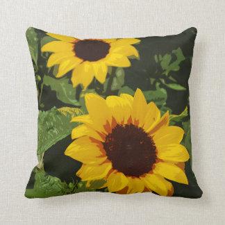 Gelbes Sonnenblumeentwurfs-Wurfskissen Kissen