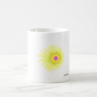 Gelbes Spritzen Kaffeetasse