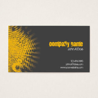 Gelbes Spritzen Visitenkarte