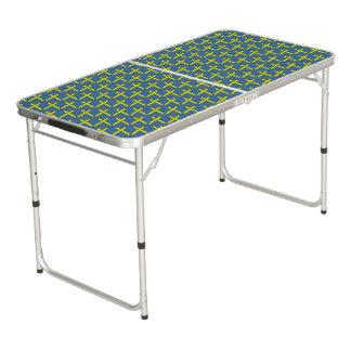 Gelbes Standardband Beer Pong Tisch