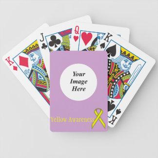 Gelbes Standardband durch Kenneth Yoncich Bicycle Spielkarten