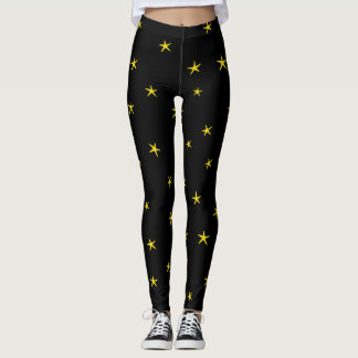 Gelbes Starfish-Muster Leggings