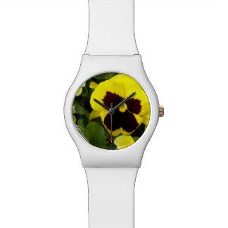 Gelbes Stiefmütterchen, Damen-weiße Uhr