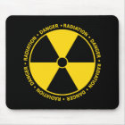 Gelbes Strahlungs-Symbol Mousepad
