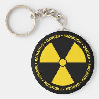 Gelbes Strahlungs-Symbol Schlüsselanhänger