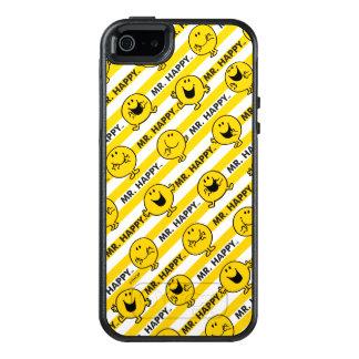 Gelbes Streifen-Muster Herr-Happy | OtterBox iPhone 5/5s/SE Hülle