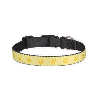 Gelbes Tatzen-Druck-Hundehalsband Haustierhalsband