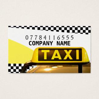Gelbes Taxi-Zeichen und Streifen Visitenkarte