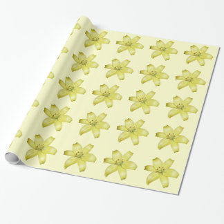Gelbes Tiger-Lilien-Packpapier Einpackpapier