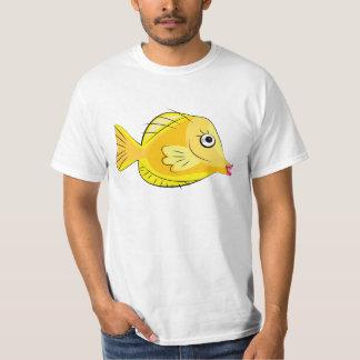 Gelbes tropisches Fisch-Unterwasseratemgerät Tangs T-Shirt
