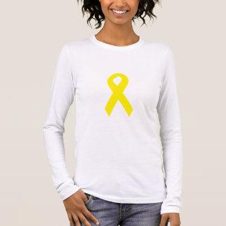 Gelbes Truppe-Band Langarm T-Shirt