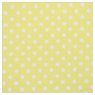 Gelbes Tupfen-Gewebe Stoff