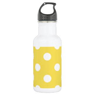 Gelbes Tupfen-Muster Trinkflasche